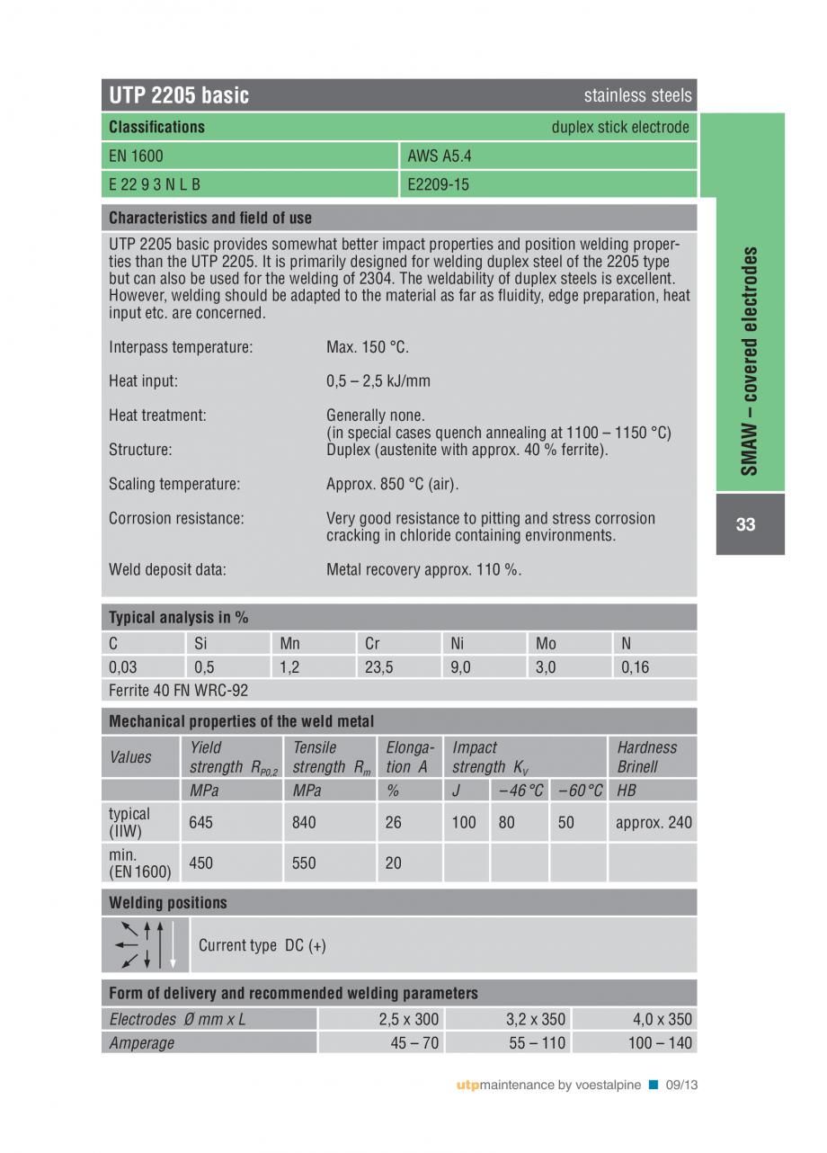 Pagina 35 - Solutii complete (materiale de adaos) pentru mentenanta si reparatii TEHNIC GAZ WELDING ...