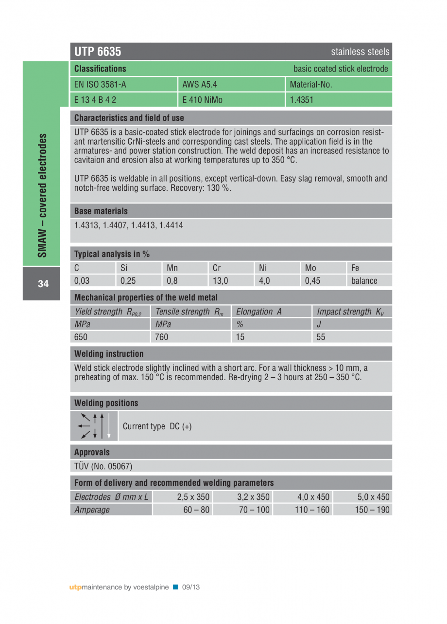 Pagina 36 - Solutii complete (materiale de adaos) pentru mentenanta si reparatii TEHNIC GAZ WELDING ...