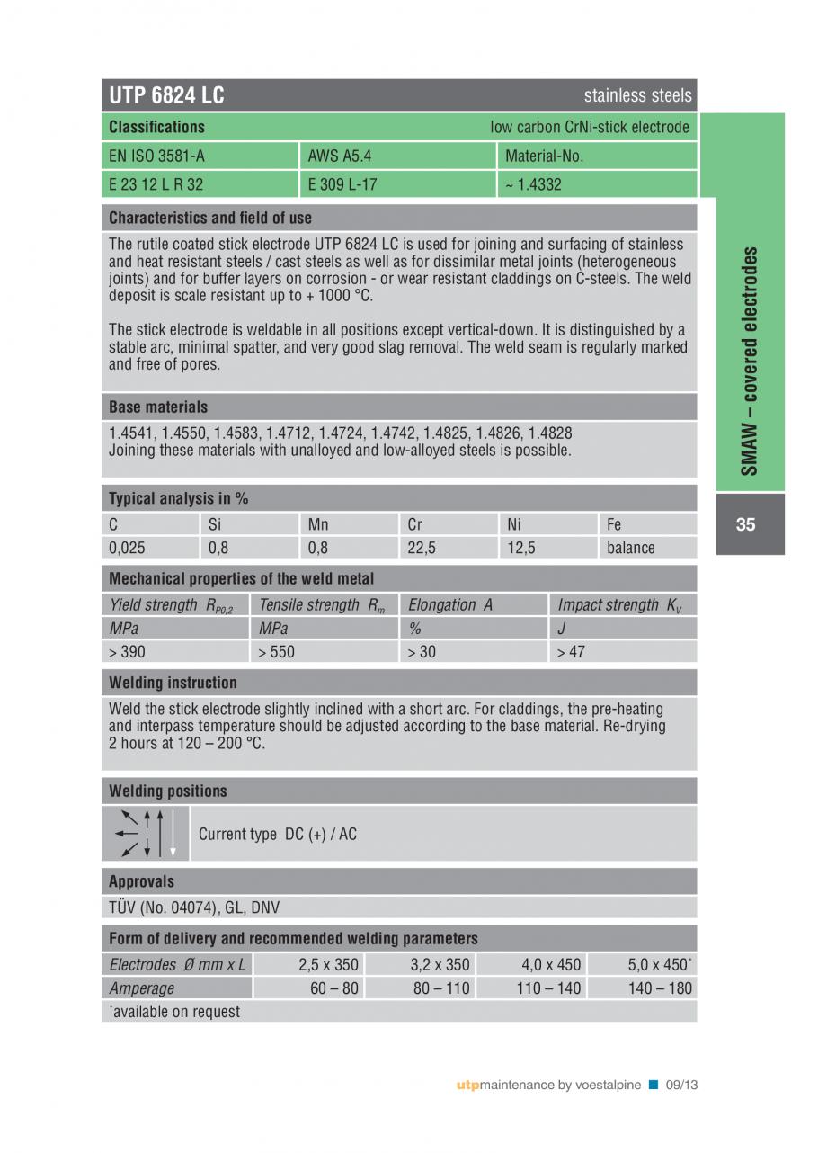 Pagina 37 - Solutii complete (materiale de adaos) pentru mentenanta si reparatii TEHNIC GAZ WELDING ...