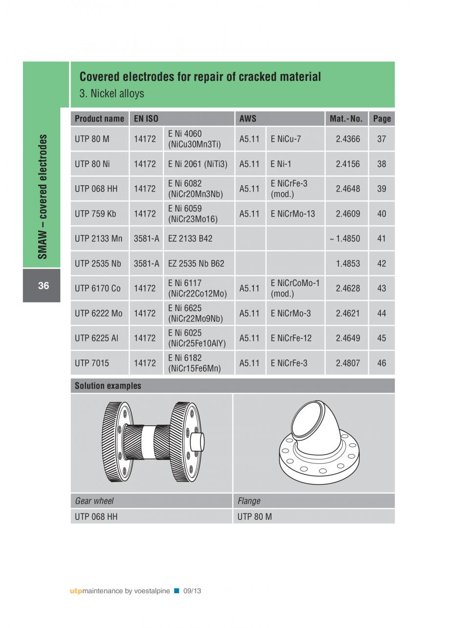 Pagina 38 - Solutii complete (materiale de adaos) pentru mentenanta si reparatii TEHNIC GAZ WELDING ...