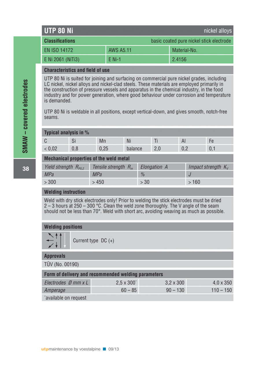 Pagina 40 - Solutii complete (materiale de adaos) pentru mentenanta si reparatii TEHNIC GAZ WELDING ...