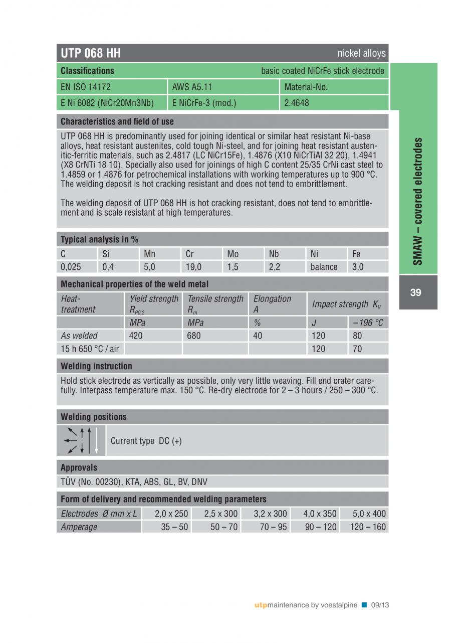 Pagina 41 - Solutii complete (materiale de adaos) pentru mentenanta si reparatii TEHNIC GAZ WELDING ...