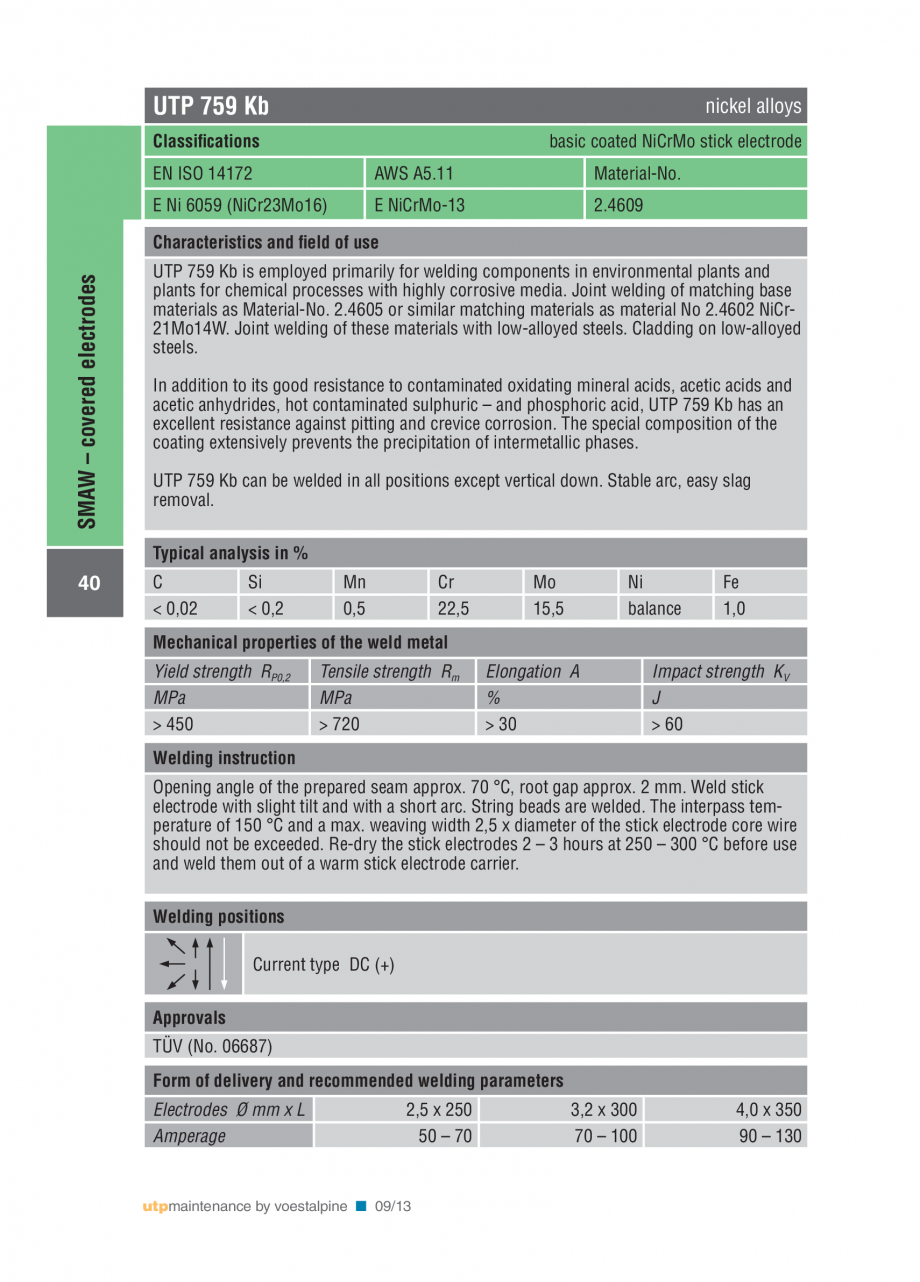Pagina 42 - Solutii complete (materiale de adaos) pentru mentenanta si reparatii TEHNIC GAZ WELDING ...