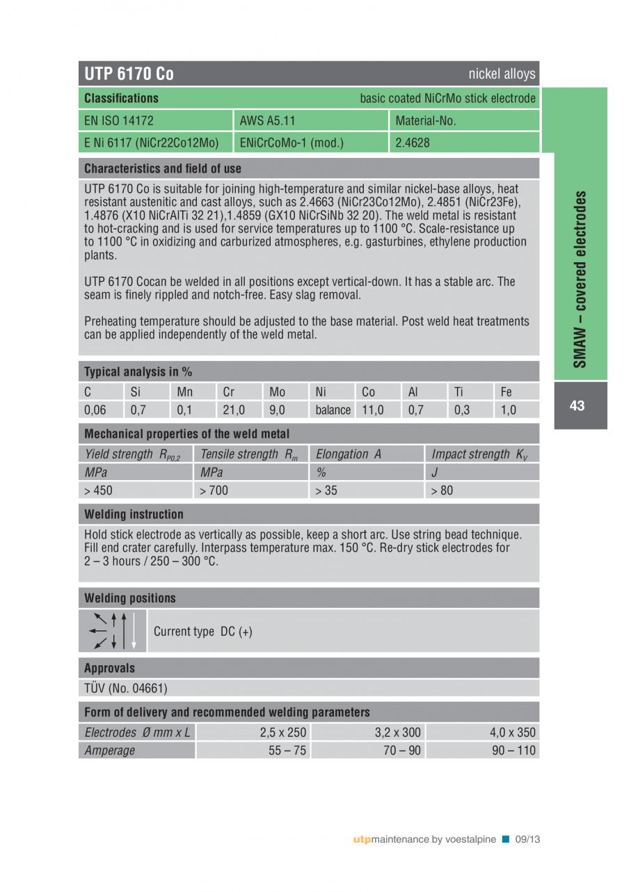 Pagina 45 - Solutii complete (materiale de adaos) pentru mentenanta si reparatii TEHNIC GAZ WELDING ...