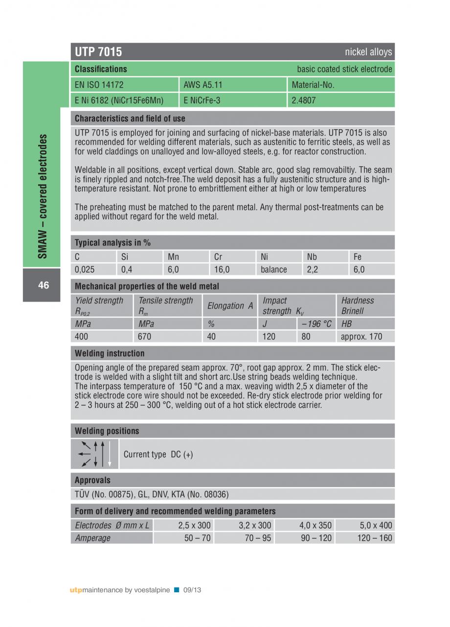 Pagina 48 - Solutii complete (materiale de adaos) pentru mentenanta si reparatii TEHNIC GAZ WELDING ...