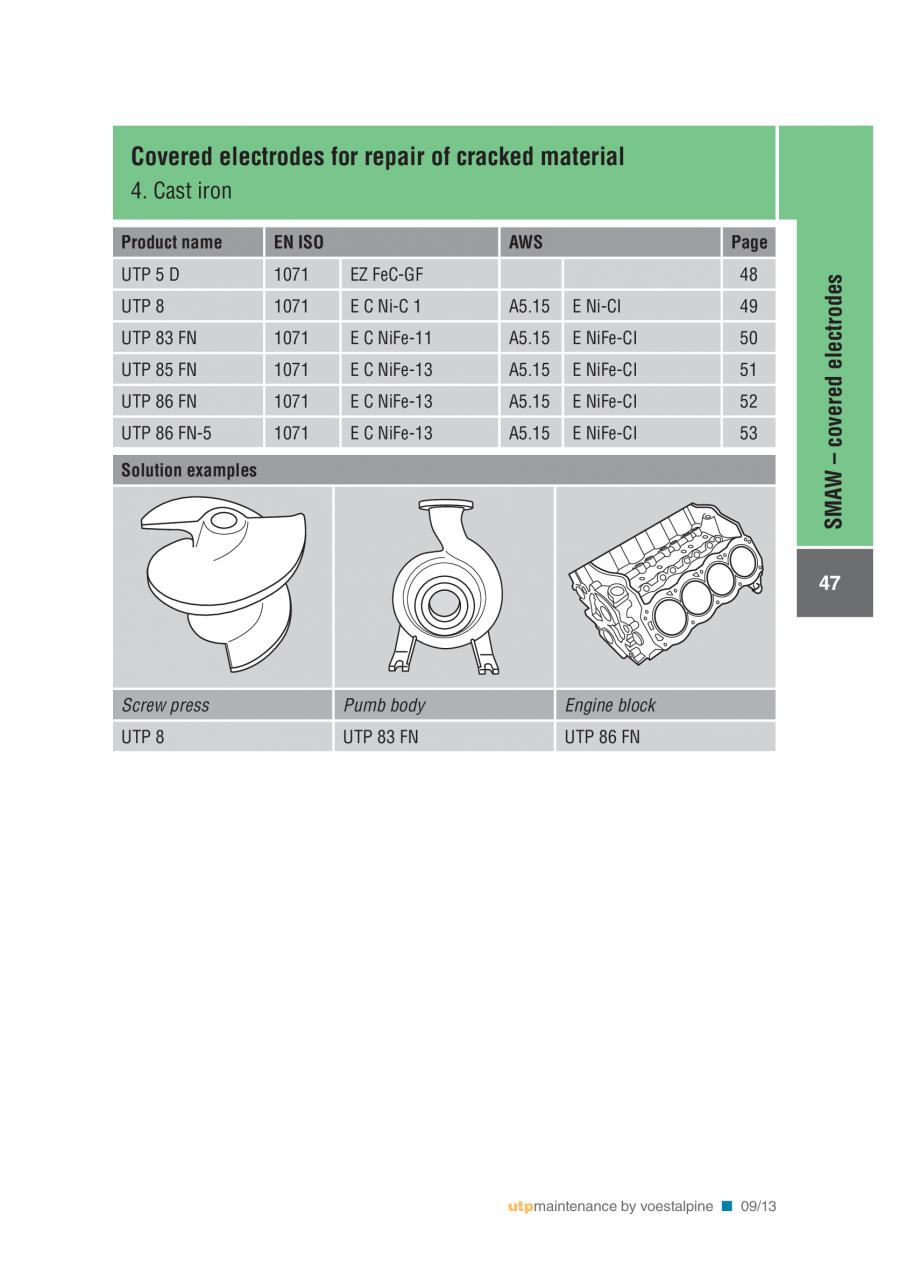 Pagina 49 - Solutii complete (materiale de adaos) pentru mentenanta si reparatii TEHNIC GAZ WELDING ...