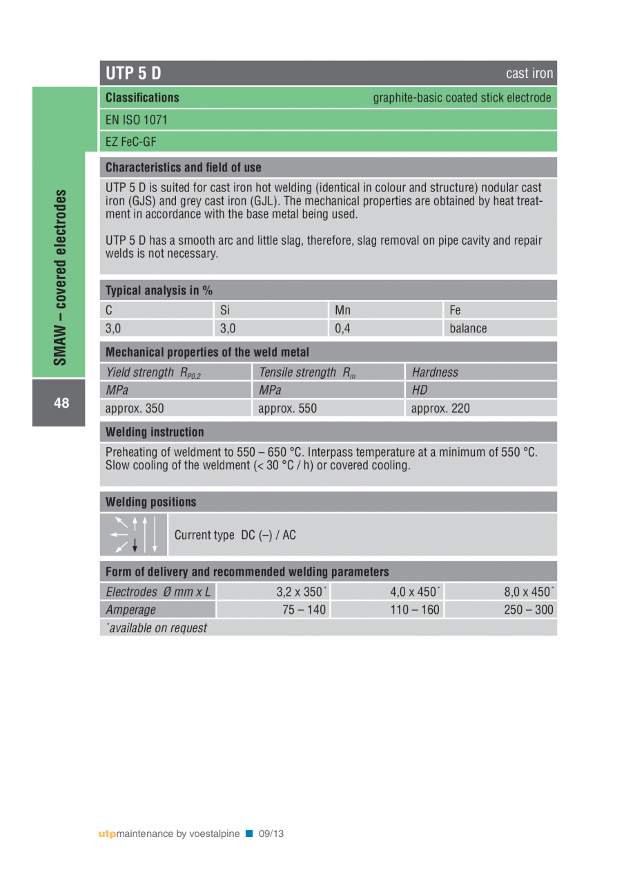 Pagina 50 - Solutii complete (materiale de adaos) pentru mentenanta si reparatii TEHNIC GAZ WELDING ...