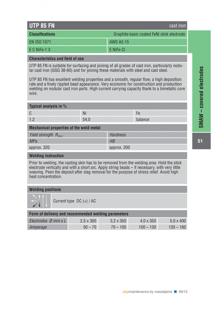 Pagina 53 - Solutii complete (materiale de adaos) pentru mentenanta si reparatii TEHNIC GAZ WELDING ...