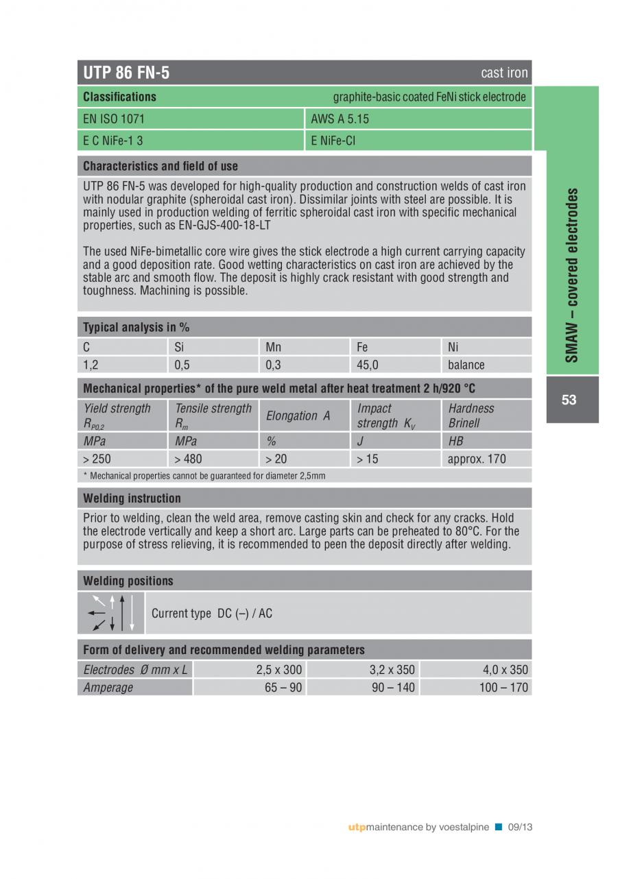Pagina 55 - Solutii complete (materiale de adaos) pentru mentenanta si reparatii TEHNIC GAZ WELDING ...