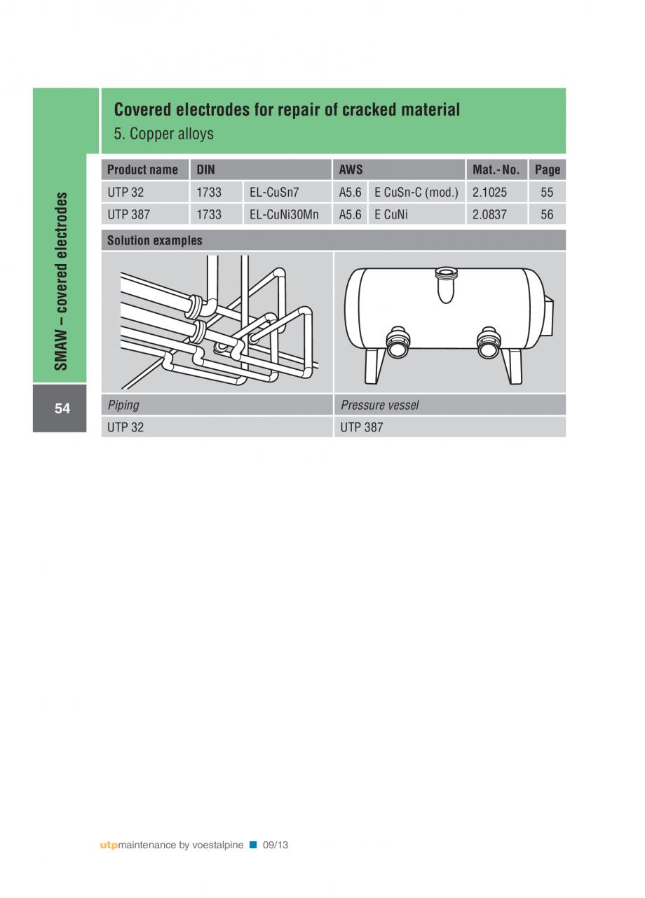 Pagina 56 - Solutii complete (materiale de adaos) pentru mentenanta si reparatii TEHNIC GAZ WELDING ...