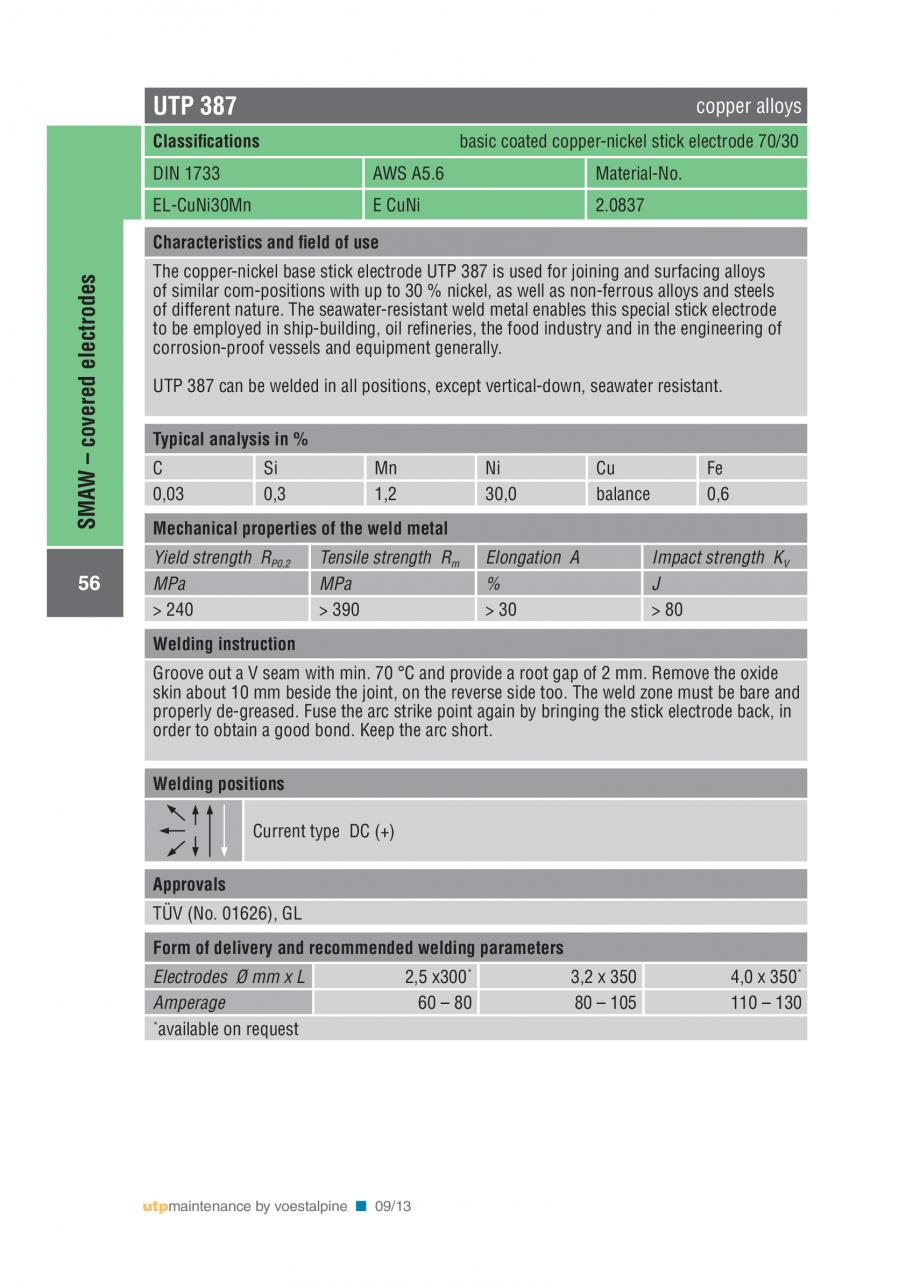 Pagina 58 - Solutii complete (materiale de adaos) pentru mentenanta si reparatii TEHNIC GAZ WELDING ...