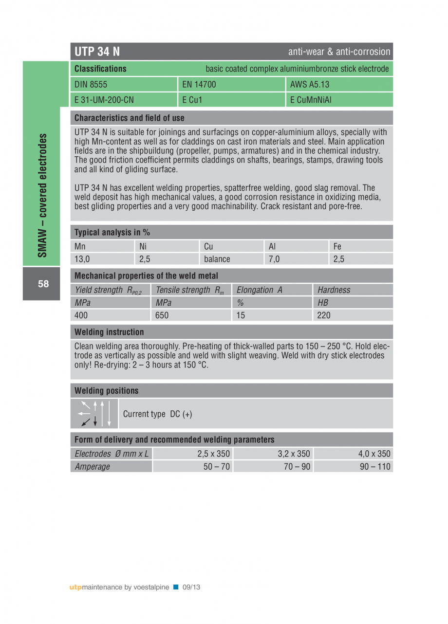 Pagina 60 - Solutii complete (materiale de adaos) pentru mentenanta si reparatii TEHNIC GAZ WELDING ...