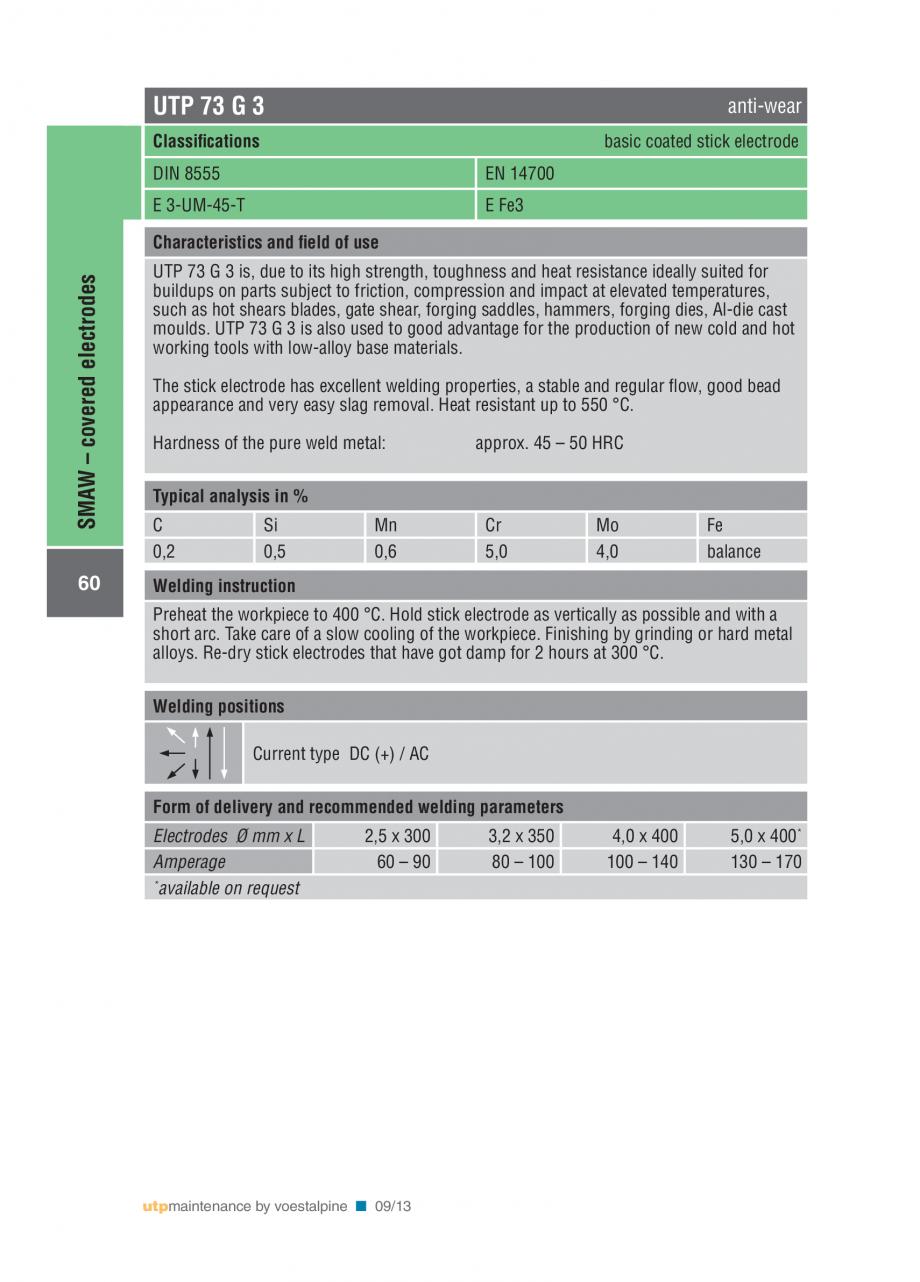 Pagina 62 - Solutii complete (materiale de adaos) pentru mentenanta si reparatii TEHNIC GAZ WELDING ...