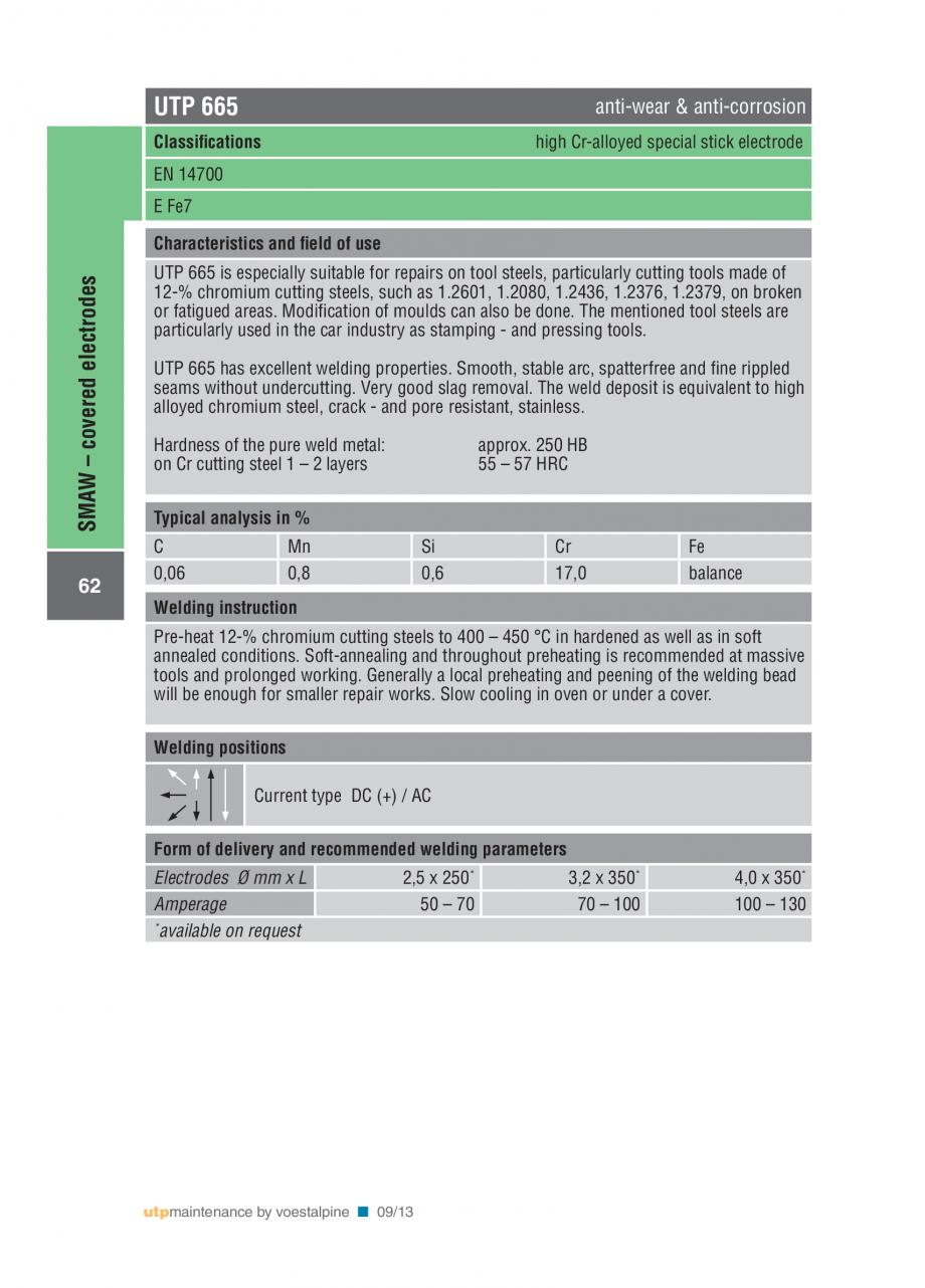 Pagina 64 - Solutii complete (materiale de adaos) pentru mentenanta si reparatii TEHNIC GAZ WELDING ...