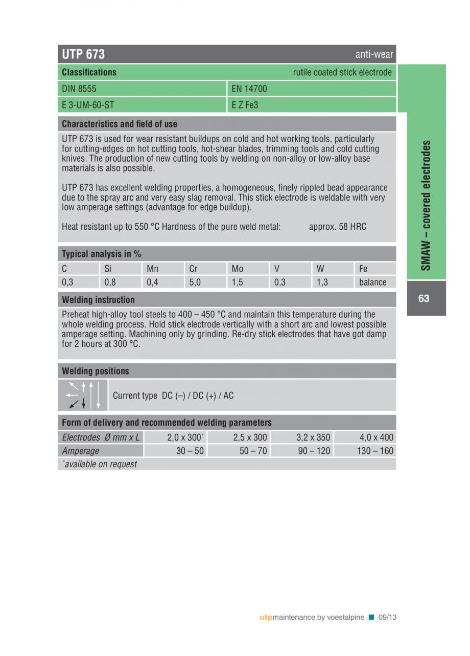 Pagina 65 - Solutii complete (materiale de adaos) pentru mentenanta si reparatii TEHNIC GAZ WELDING ...