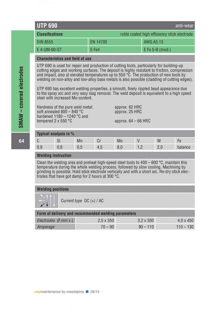 Pagina 66 - Solutii complete (materiale de adaos) pentru mentenanta si reparatii TEHNIC GAZ WELDING ...