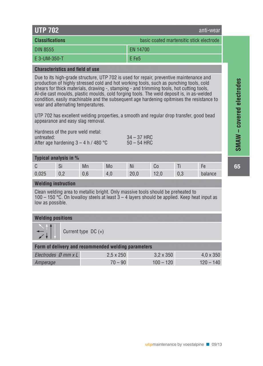 Pagina 67 - Solutii complete (materiale de adaos) pentru mentenanta si reparatii TEHNIC GAZ WELDING ...