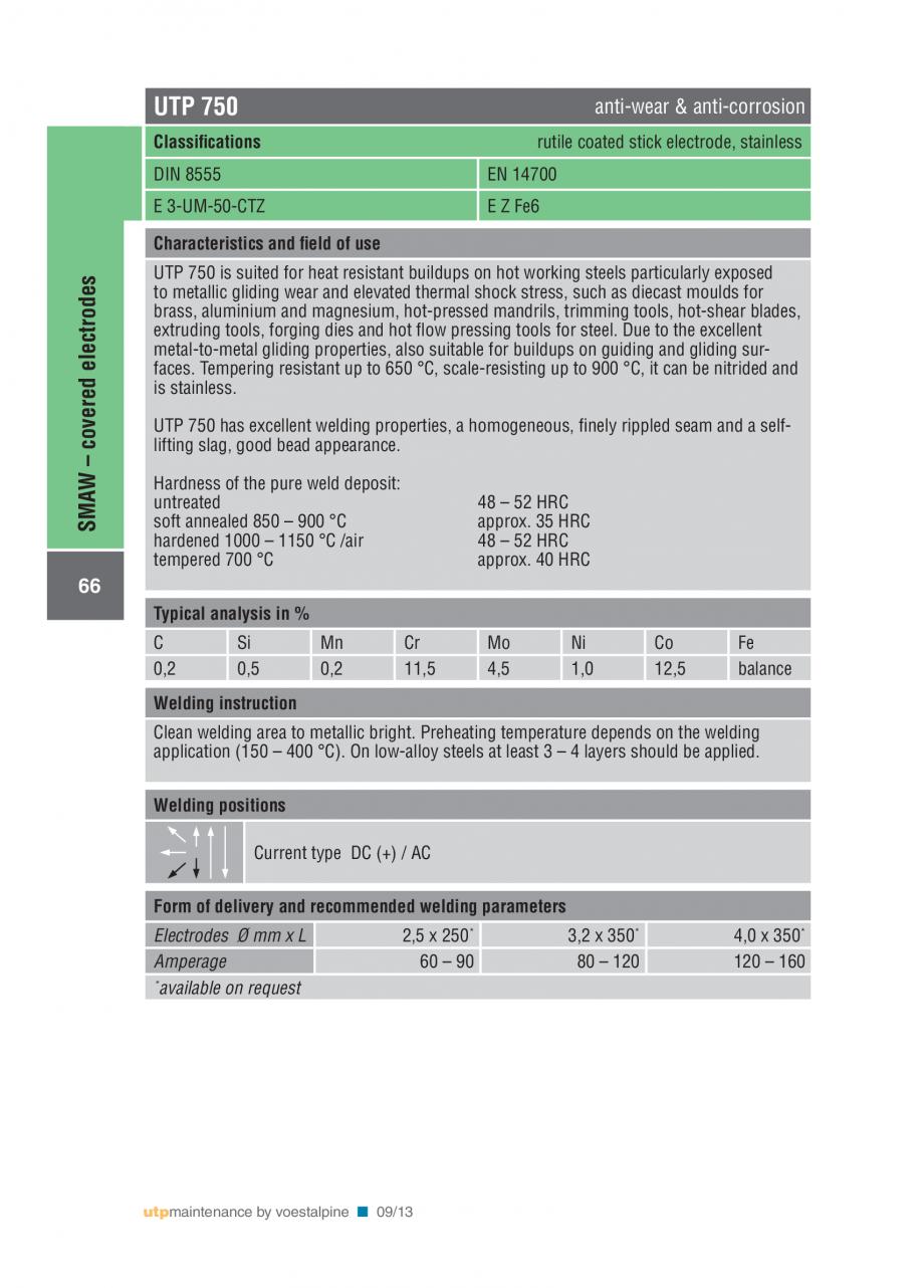 Pagina 68 - Solutii complete (materiale de adaos) pentru mentenanta si reparatii TEHNIC GAZ WELDING ...