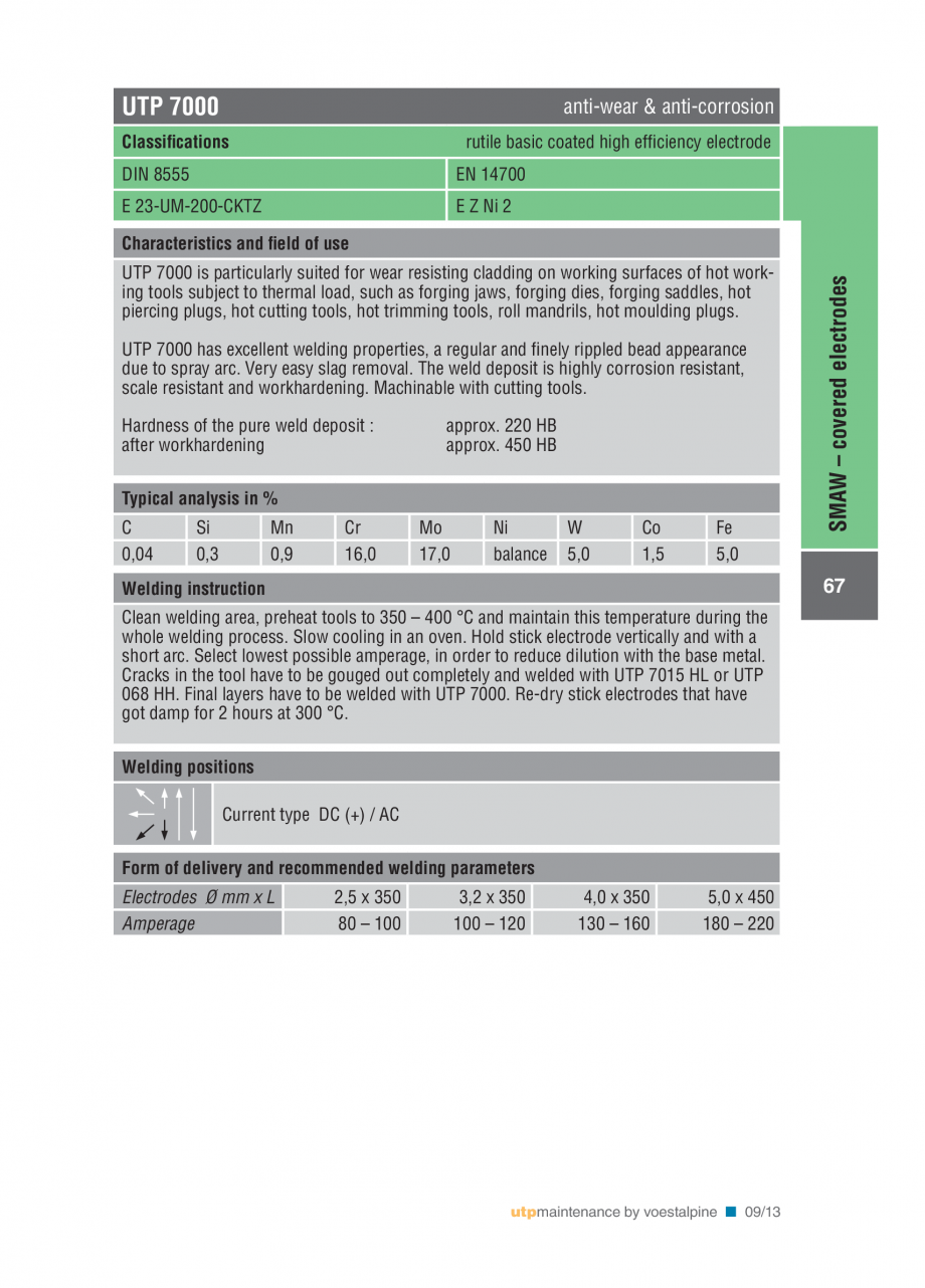 Pagina 69 - Solutii complete (materiale de adaos) pentru mentenanta si reparatii TEHNIC GAZ WELDING ...