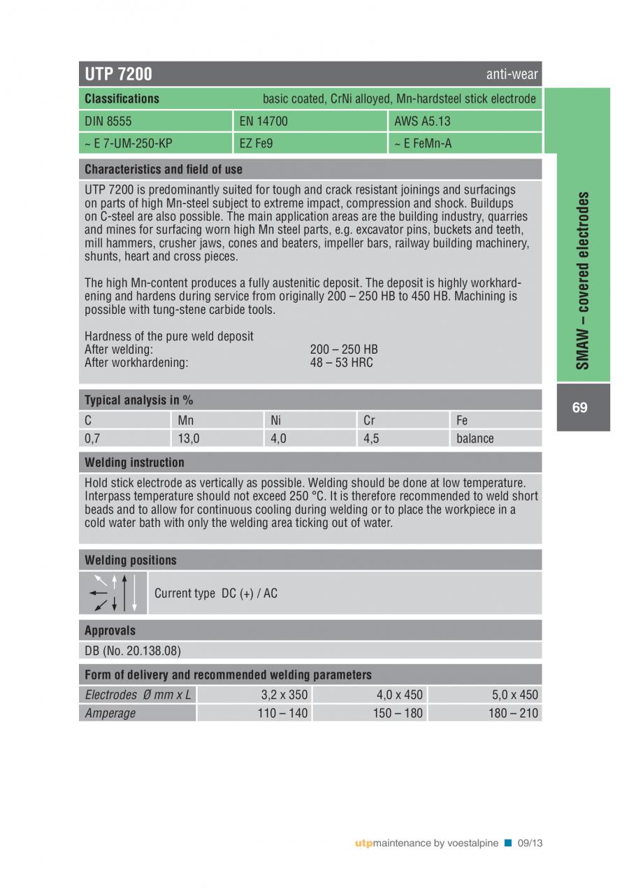 Pagina 71 - Solutii complete (materiale de adaos) pentru mentenanta si reparatii TEHNIC GAZ WELDING ...
