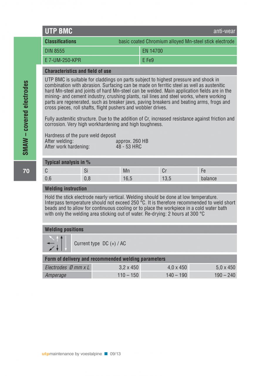 Pagina 72 - Solutii complete (materiale de adaos) pentru mentenanta si reparatii TEHNIC GAZ WELDING ...