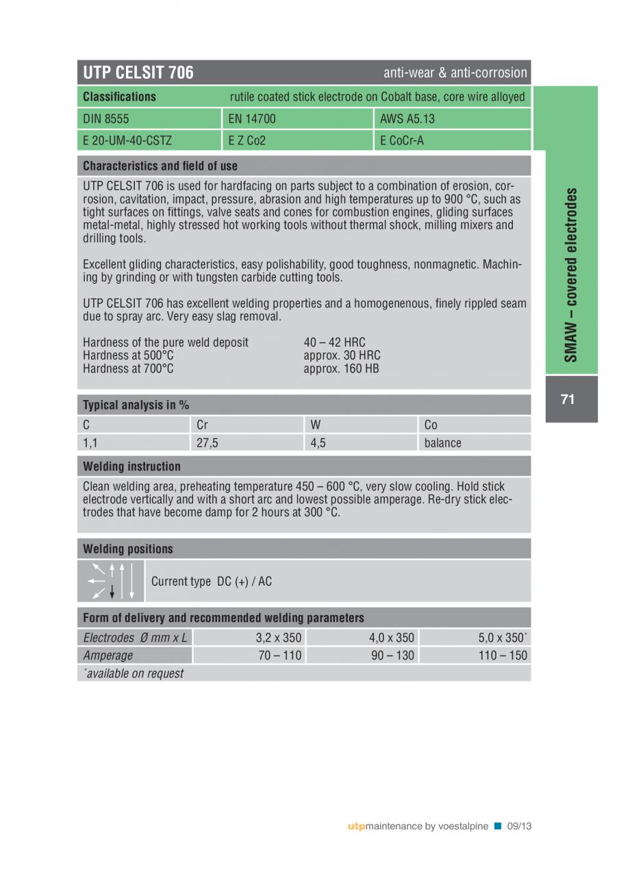 Pagina 73 - Solutii complete (materiale de adaos) pentru mentenanta si reparatii TEHNIC GAZ WELDING ...