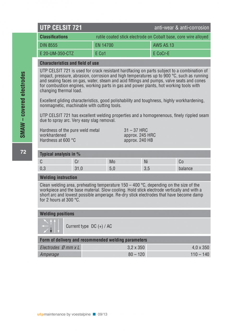 Pagina 74 - Solutii complete (materiale de adaos) pentru mentenanta si reparatii TEHNIC GAZ WELDING ...