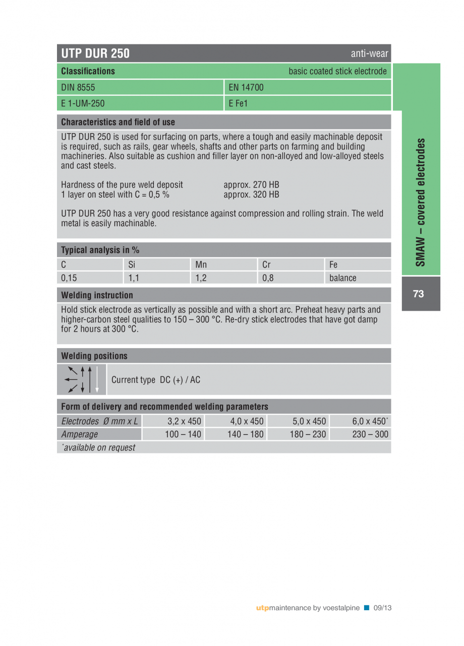 Pagina 75 - Solutii complete (materiale de adaos) pentru mentenanta si reparatii TEHNIC GAZ WELDING ...