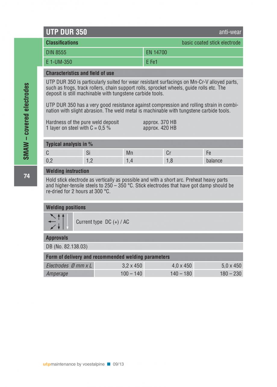 Pagina 76 - Solutii complete (materiale de adaos) pentru mentenanta si reparatii TEHNIC GAZ WELDING ...