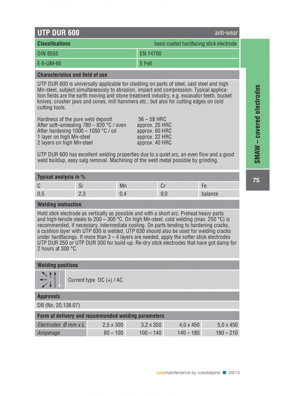 Pagina 77 - Solutii complete (materiale de adaos) pentru mentenanta si reparatii TEHNIC GAZ WELDING ...