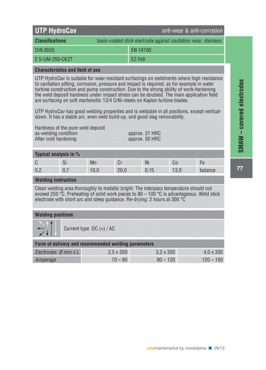 Pagina 79 - Solutii complete (materiale de adaos) pentru mentenanta si reparatii TEHNIC GAZ WELDING ...