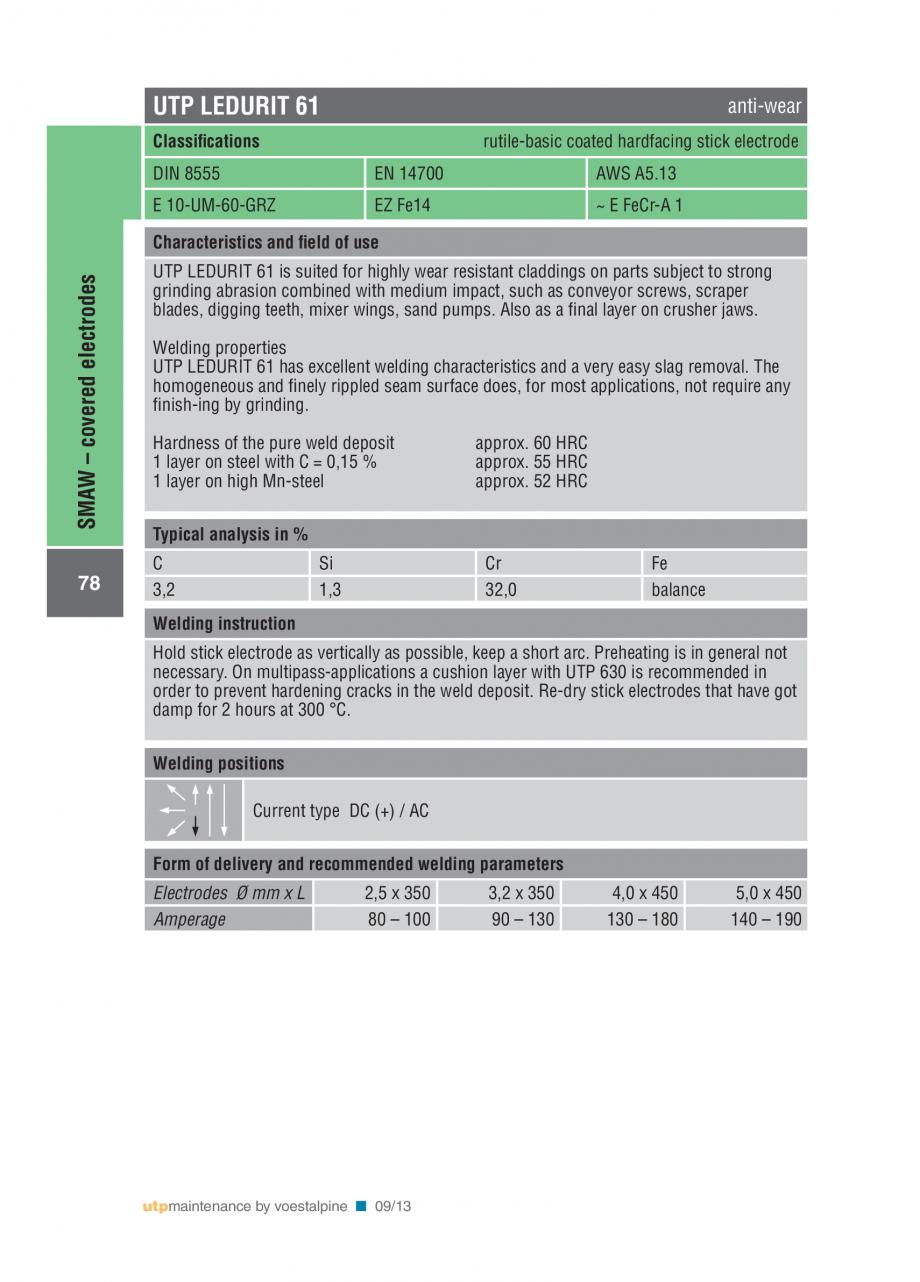 Pagina 80 - Solutii complete (materiale de adaos) pentru mentenanta si reparatii TEHNIC GAZ WELDING ...