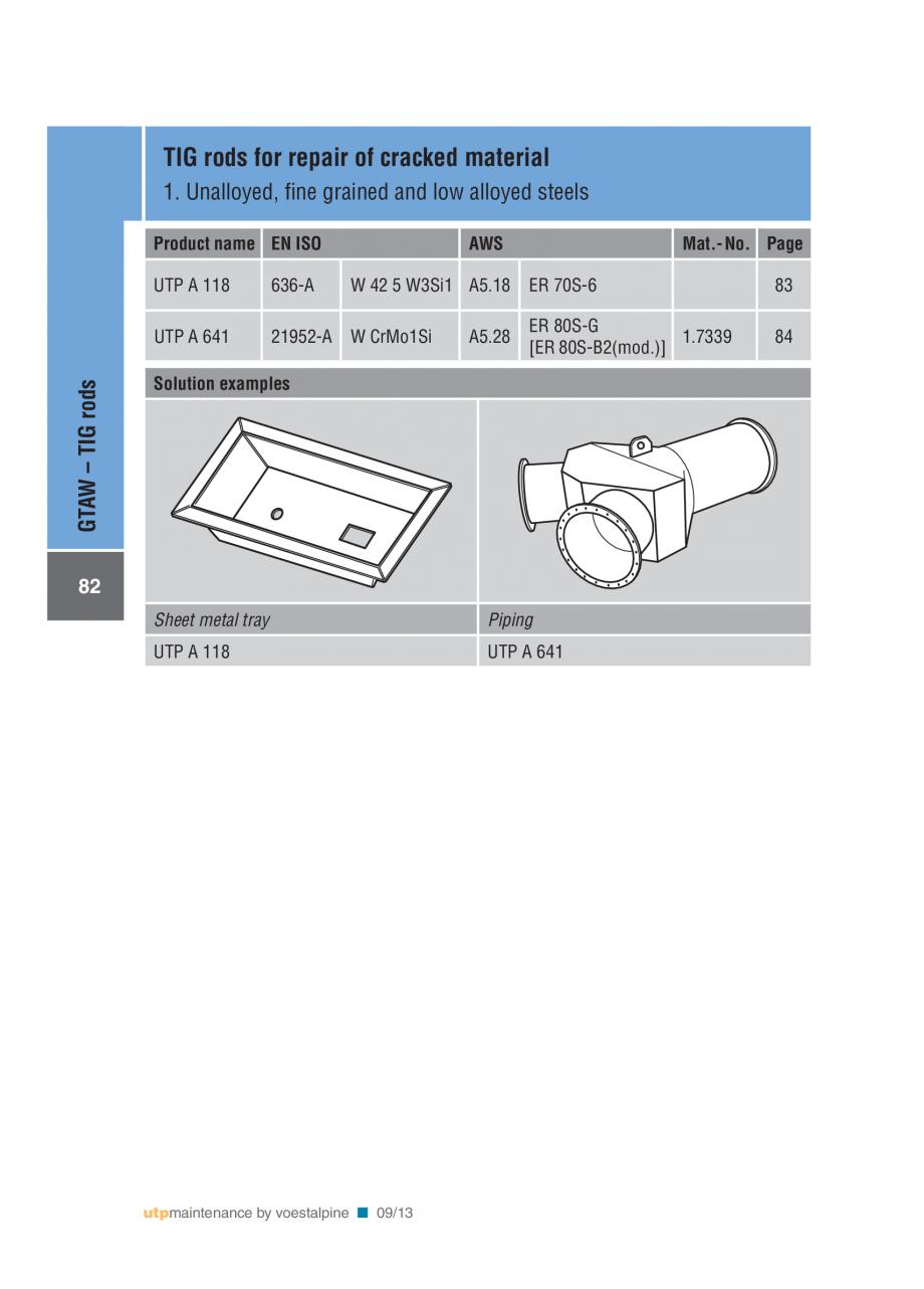 Pagina 84 - Solutii complete (materiale de adaos) pentru mentenanta si reparatii TEHNIC GAZ WELDING ...