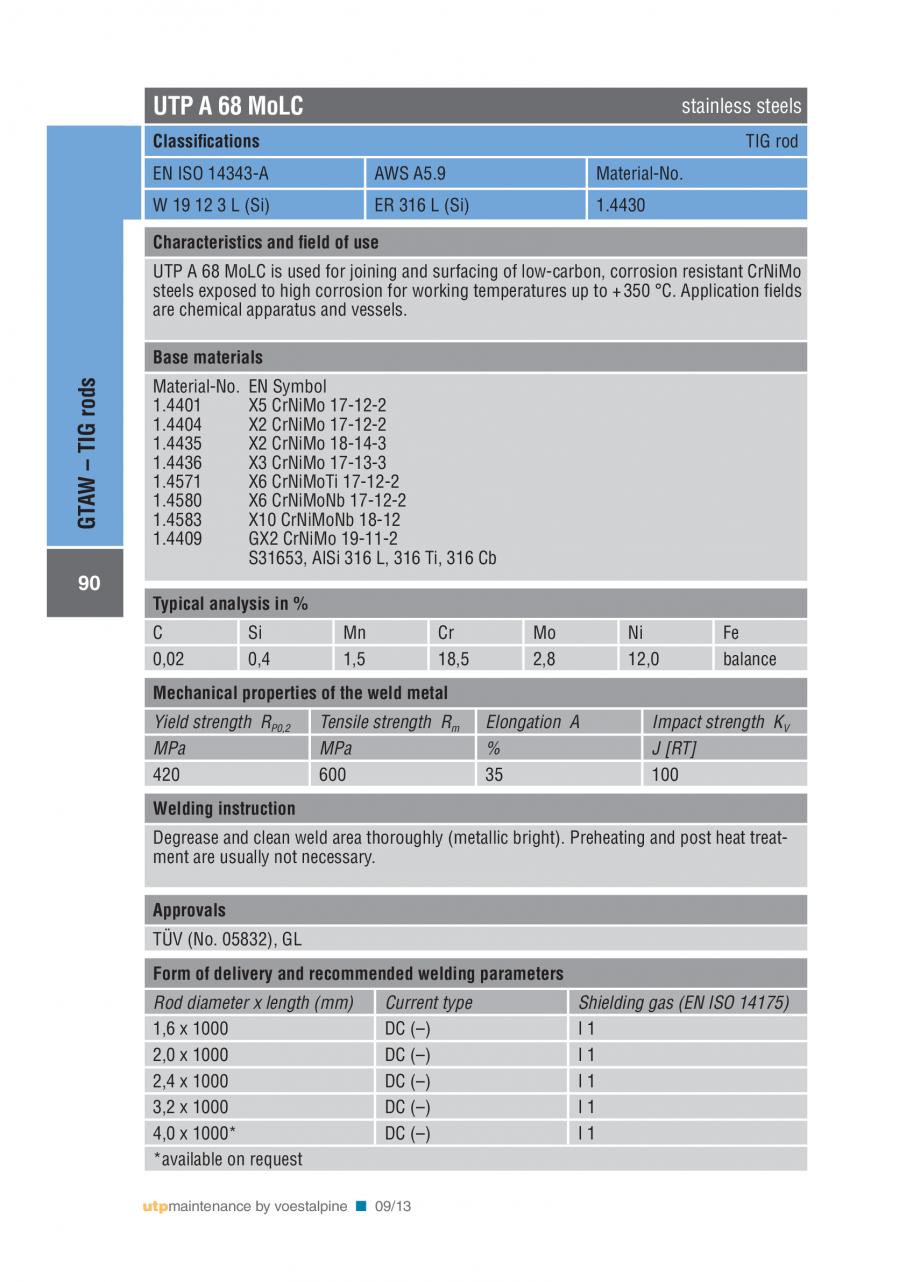 Pagina 92 - Solutii complete (materiale de adaos) pentru mentenanta si reparatii TEHNIC GAZ WELDING ...