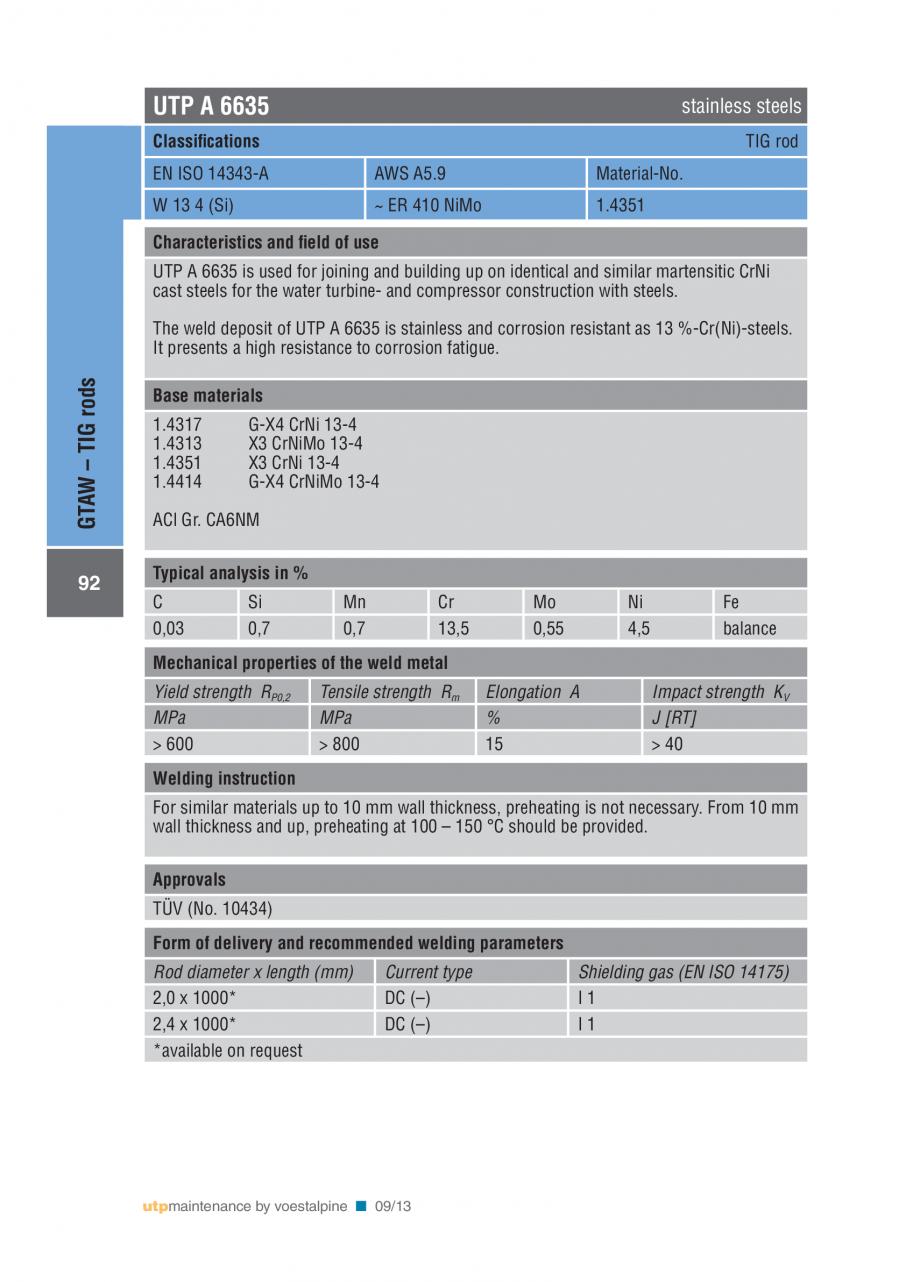 Pagina 94 - Solutii complete (materiale de adaos) pentru mentenanta si reparatii TEHNIC GAZ WELDING ...