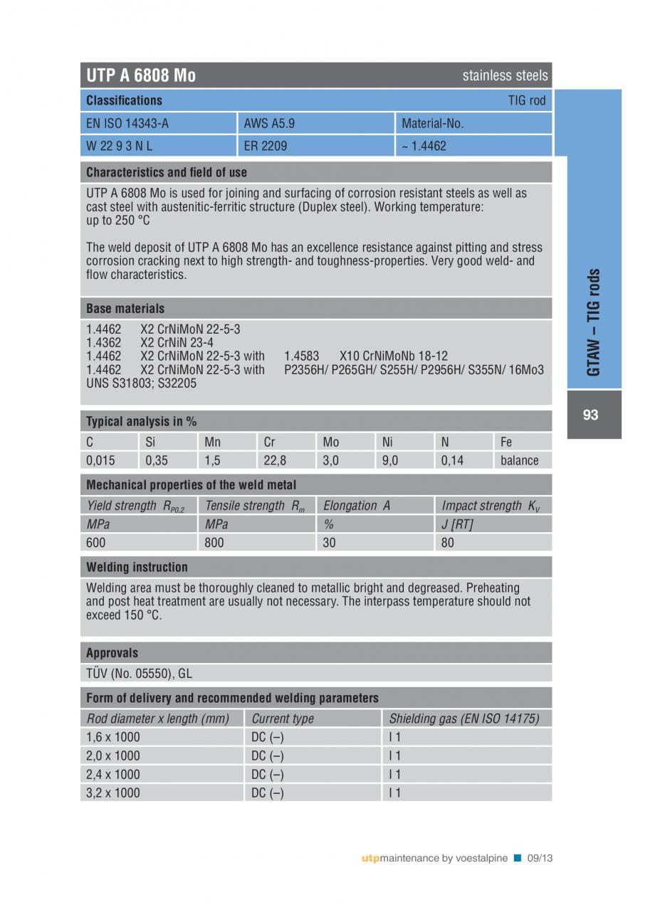 Pagina 95 - Solutii complete (materiale de adaos) pentru mentenanta si reparatii TEHNIC GAZ WELDING ...