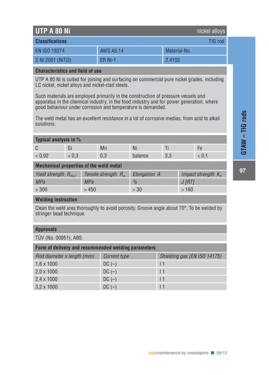 Pagina 99 - Solutii complete (materiale de adaos) pentru mentenanta si reparatii TEHNIC GAZ WELDING ...