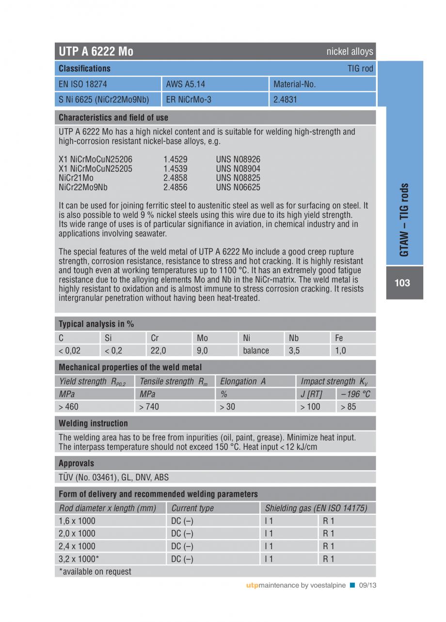 Pagina 105 - Solutii complete (materiale de adaos) pentru mentenanta si reparatii TEHNIC GAZ WELDING...