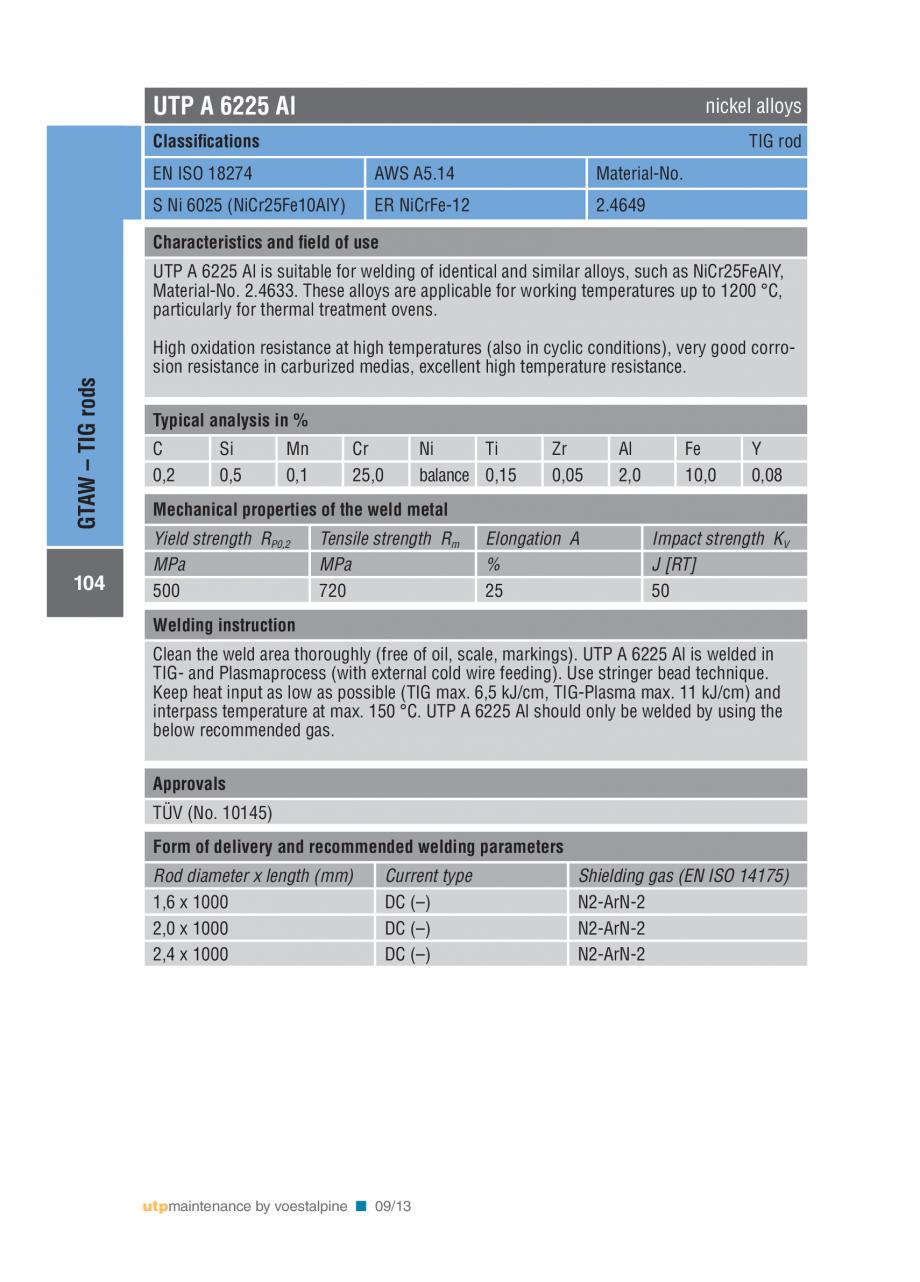 Pagina 106 - Solutii complete (materiale de adaos) pentru mentenanta si reparatii TEHNIC GAZ WELDING...