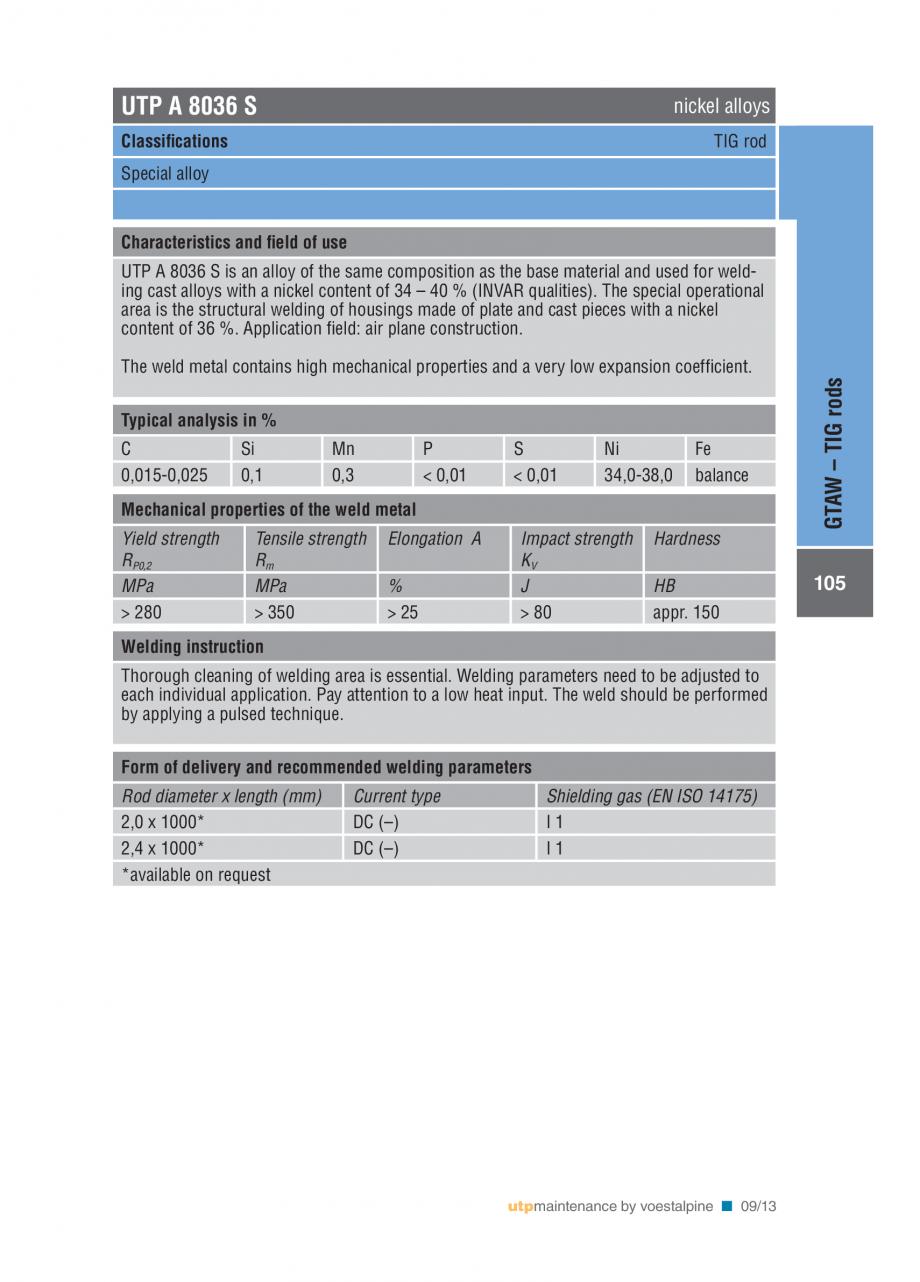 Pagina 107 - Solutii complete (materiale de adaos) pentru mentenanta si reparatii TEHNIC GAZ WELDING...