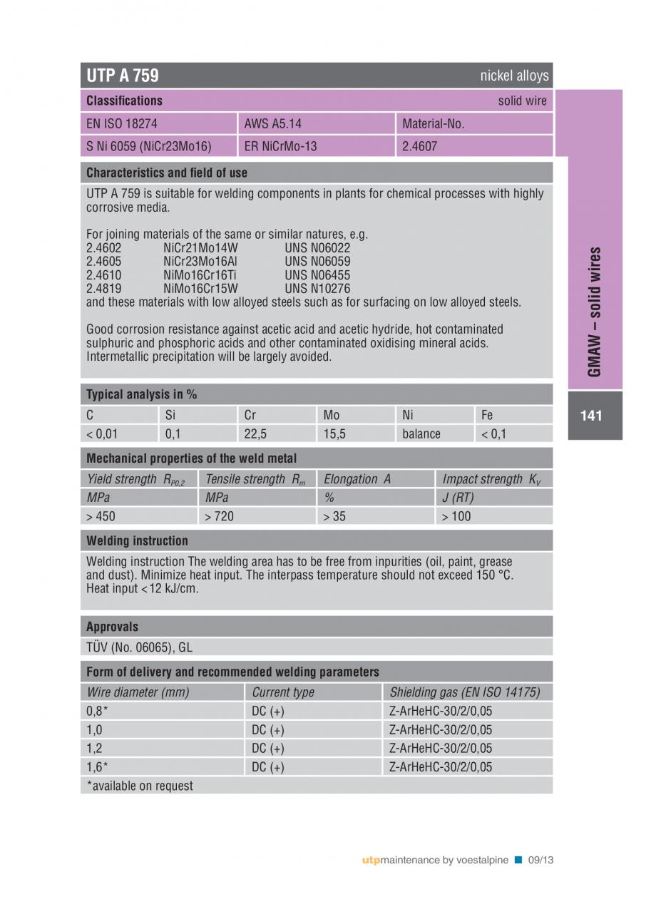 Pagina 143 - Solutii complete (materiale de adaos) pentru mentenanta si reparatii TEHNIC GAZ WELDING...