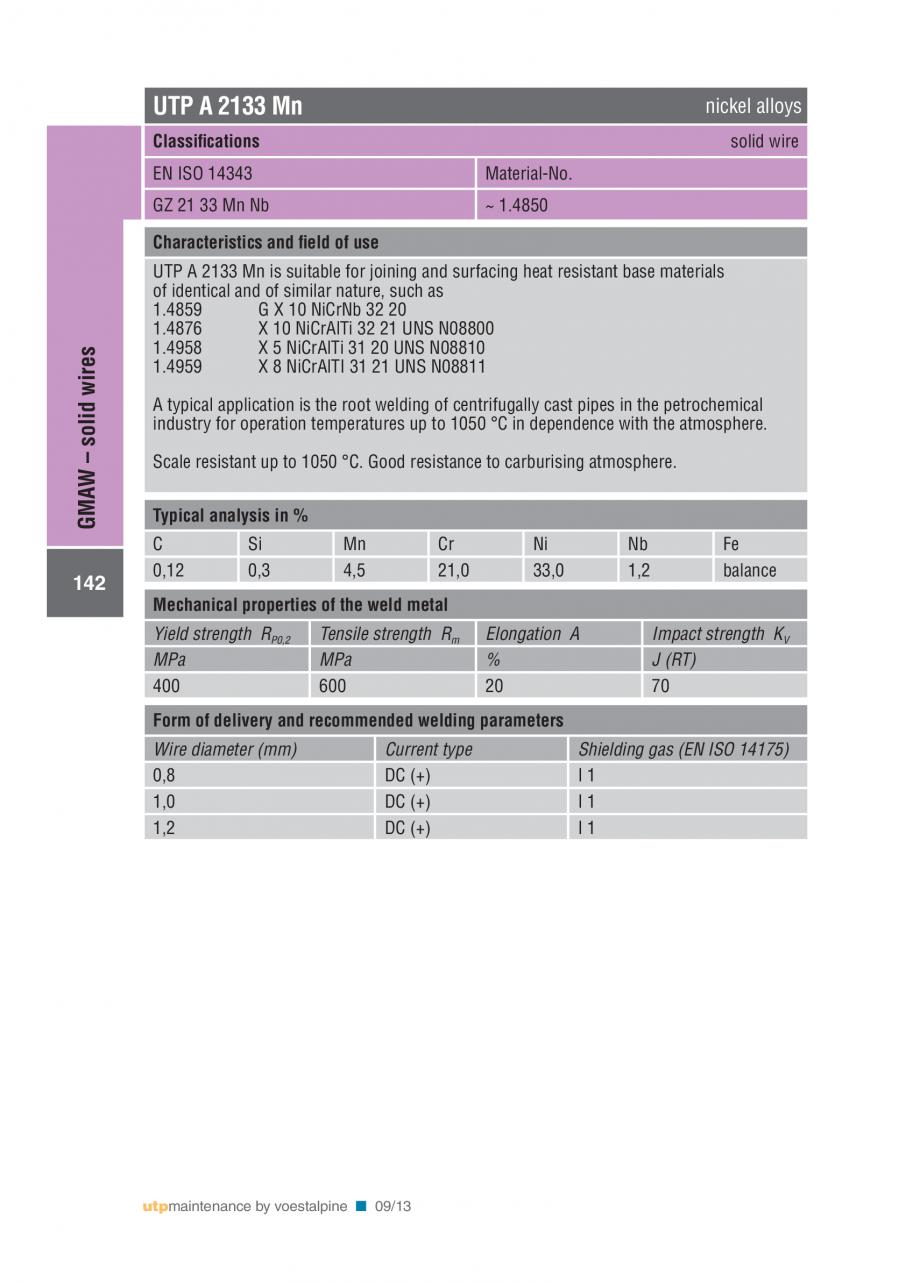 Pagina 144 - Solutii complete (materiale de adaos) pentru mentenanta si reparatii TEHNIC GAZ WELDING...