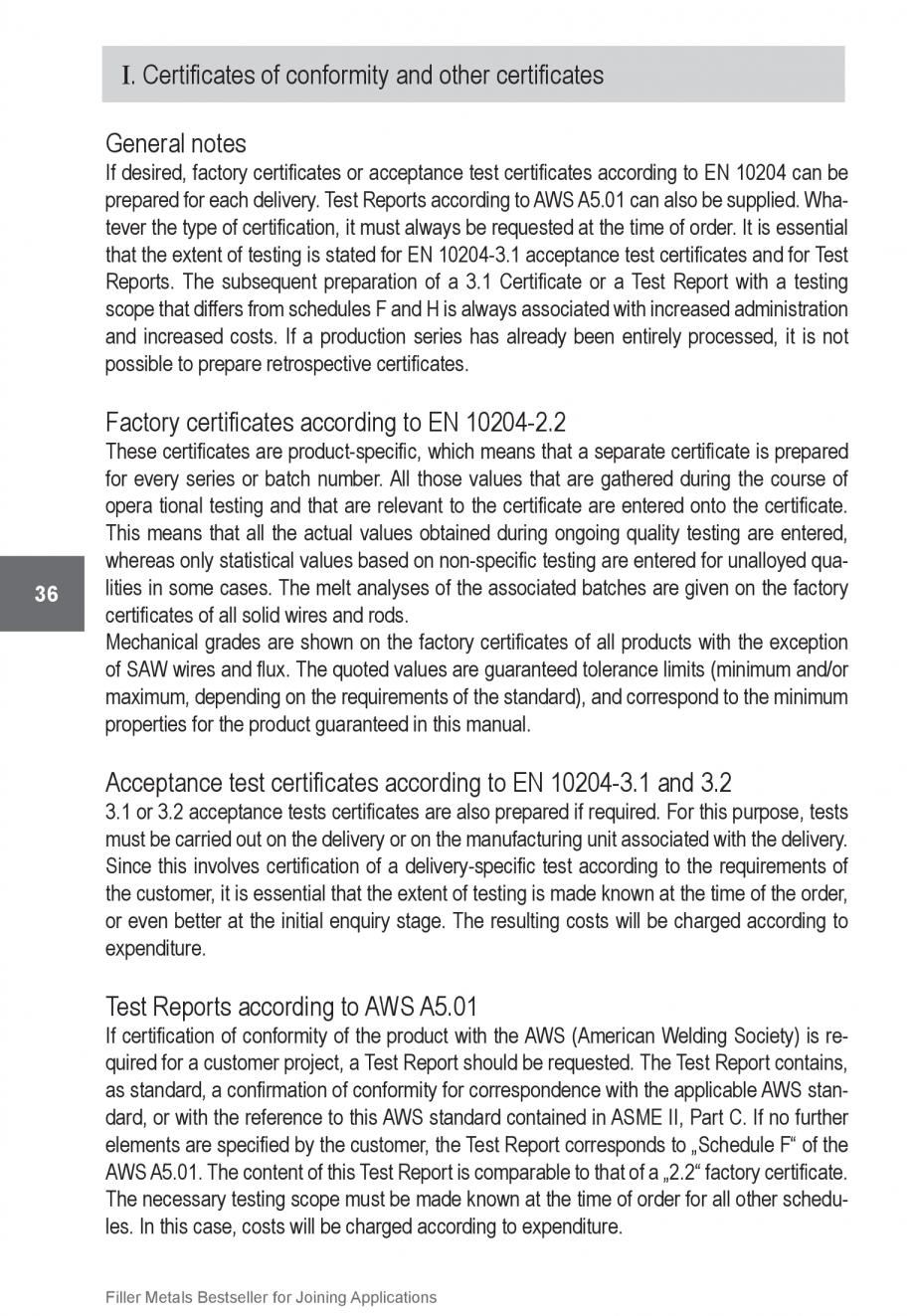 Pagina 36 - Solutii complete (materiale de adaos) pentru orice tip de aplicatie in sudare TEHNIC GAZ...