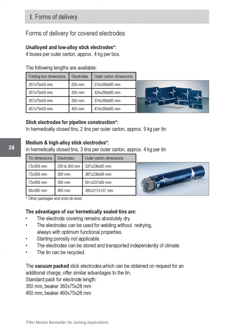 Pagina 38 - Solutii complete (materiale de adaos) pentru orice tip de aplicatie in sudare TEHNIC GAZ...