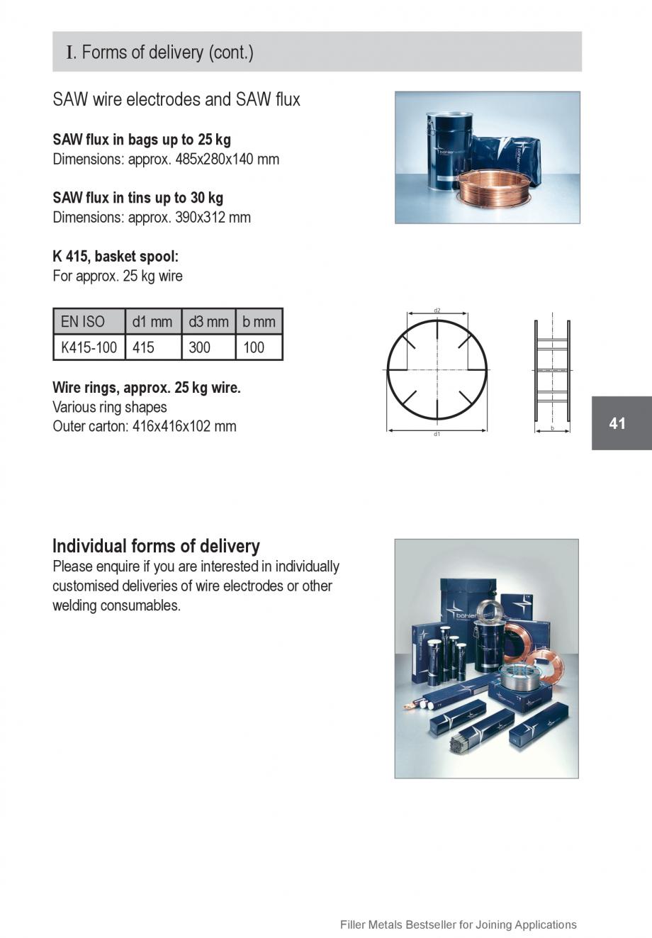 Pagina 41 - Solutii complete (materiale de adaos) pentru orice tip de aplicatie in sudare TEHNIC GAZ...