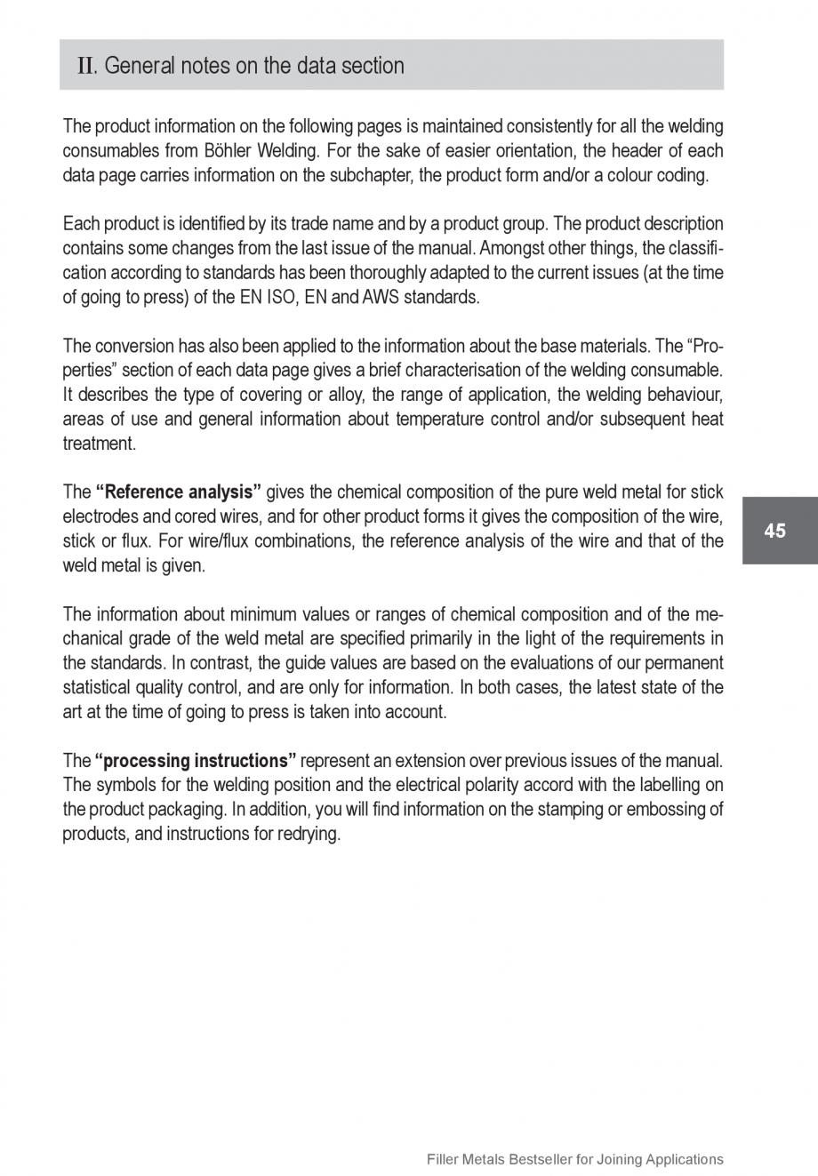 Pagina 45 - Solutii complete (materiale de adaos) pentru orice tip de aplicatie in sudare TEHNIC GAZ...