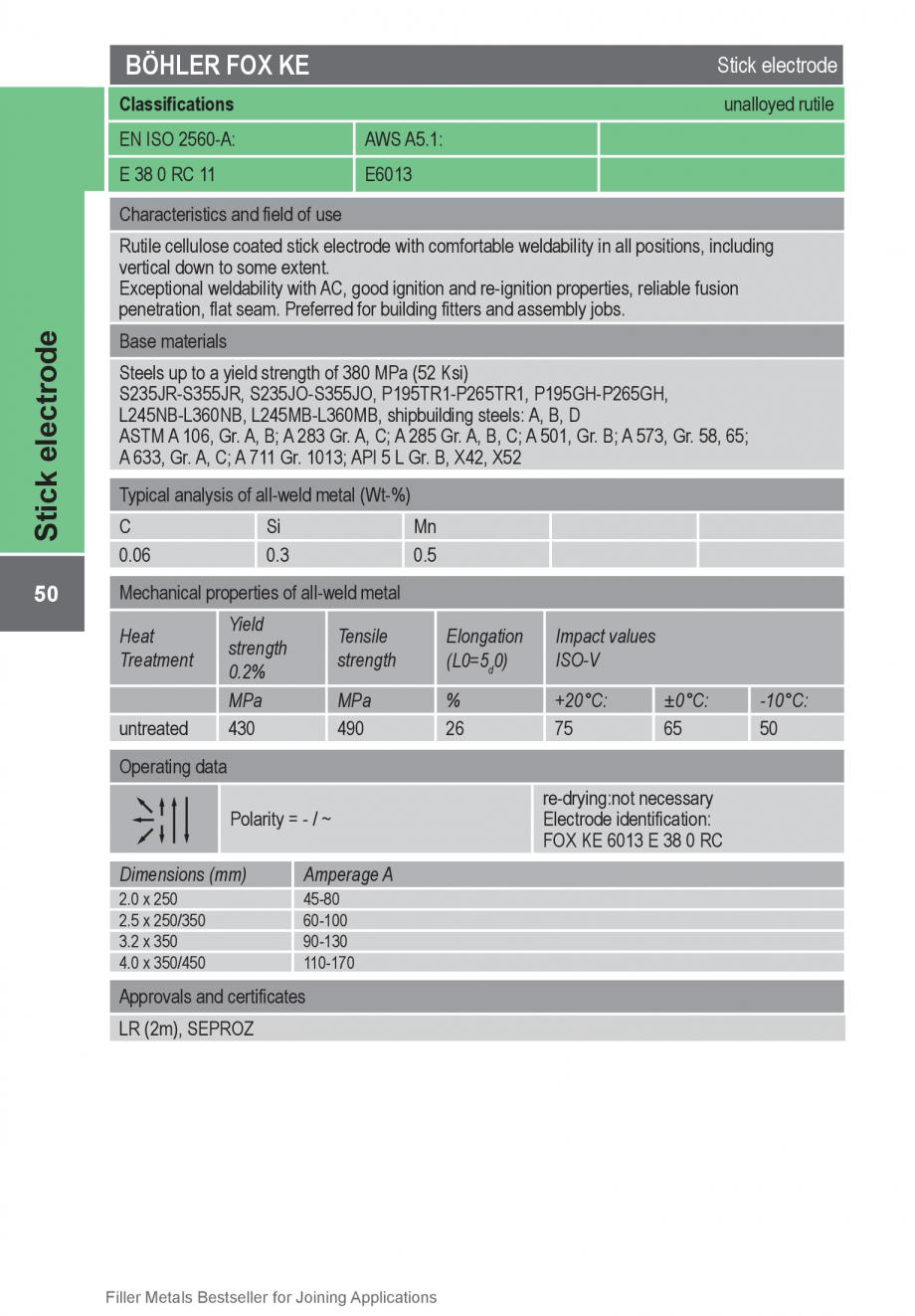 Pagina 50 - Solutii complete (materiale de adaos) pentru orice tip de aplicatie in sudare TEHNIC GAZ...