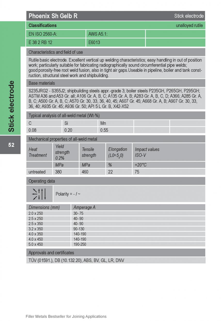 Pagina 52 - Solutii complete (materiale de adaos) pentru orice tip de aplicatie in sudare TEHNIC GAZ...