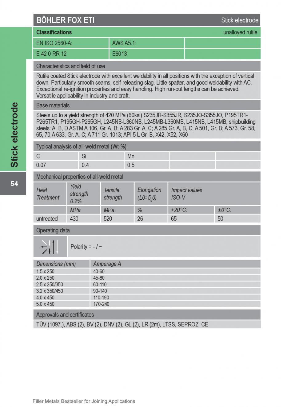 Pagina 54 - Solutii complete (materiale de adaos) pentru orice tip de aplicatie in sudare TEHNIC GAZ...