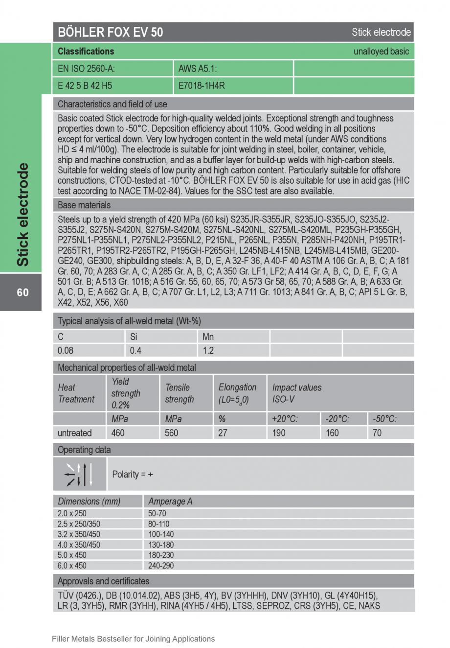 Pagina 60 - Solutii complete (materiale de adaos) pentru orice tip de aplicatie in sudare TEHNIC GAZ...
